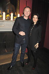 GARY & LAUREN KEMP at a dinner hosted by Ruinart in honour of artist Natasha Law held at Soho House, 21 Old Compton Street, London on 16th January 2008.<br /> <br />  (EMBARGOED FOR PUBLICATION IN UK MAGAZINES UNTIL 1 MONTH AFTER CREATE DATE AND TIME) www.donfeatures.com  +44 (0) 7092 235465