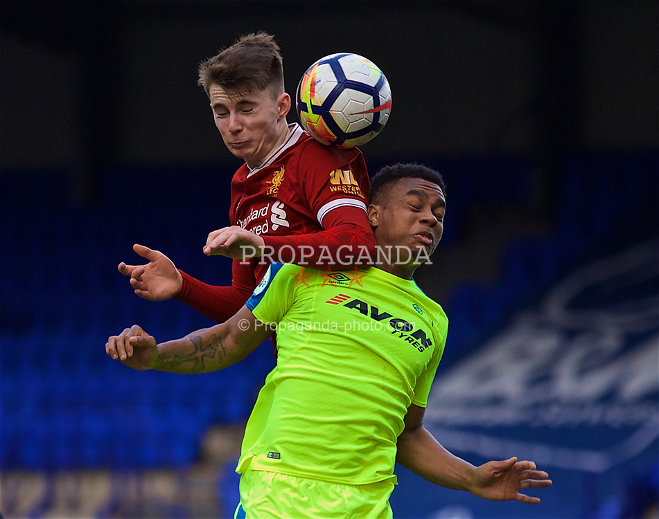 BIRKENHEAD, ENGLAND - Sunday, January 28, 2018: Liverpool's Ben Woodburn during the Under-23 FA Premier League 2 Division 1 match between Liverpool and Derby County at Prenton Park. (Pic by David Rawcliffe/Propaganda)
