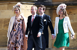 File photo dated 19/05/18 of (left to right) Lizzie Wilson, Guy Pelly, James Meade and Lady Laura Marsham. The Duchess of Sussex looks set to have turned to her inner circle of faithful friends for son Archie's godparents.