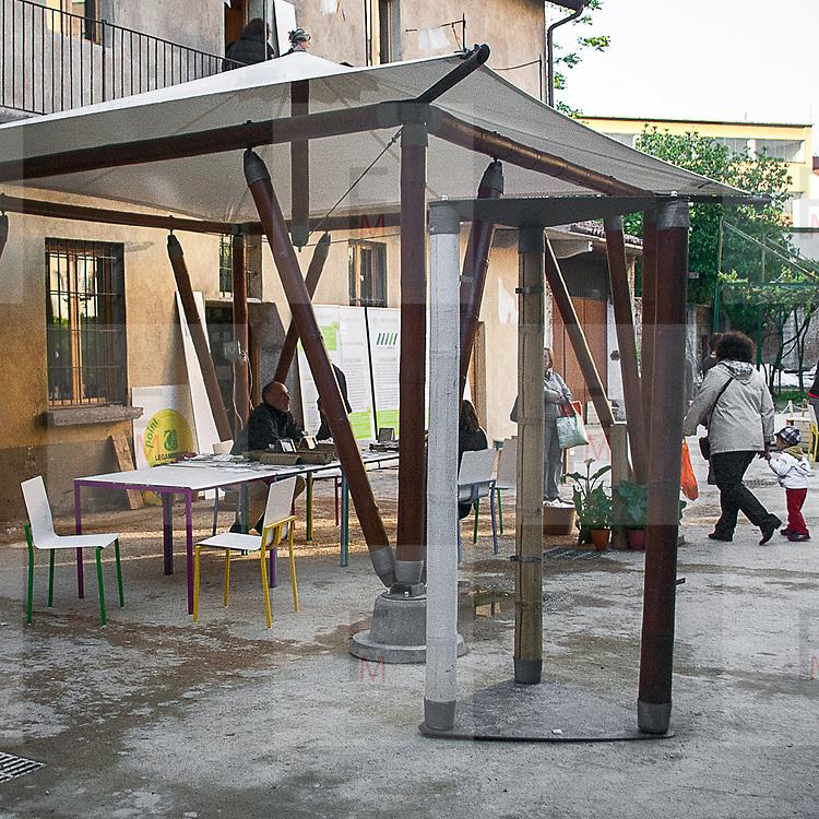 Cortile della cascina Cuccagna<br /> <br /> Cascina Cuccagna courtyard