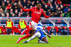 Bright Osayi-Samuel of Queens Park Rangers slides in to tackle Adama Diakhaby of Nottingham Forest - Mandatory by-line: Ryan Crockett/JMP - 22/02/2020 - FOOTBALL - The City Ground - Nottingham, England - Nottingham Forest v Queens Park Rangers - Sky Bet Championship