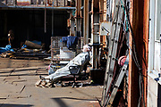 metal shop worker taking a lunch break nap Yokosuka Japan