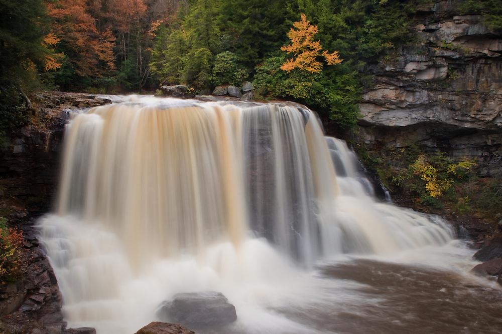 Blackwater Falls After Autumn Rain, Blackwater Falls State Park, WV