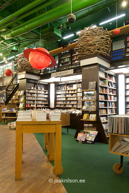 modern display table in bookstore