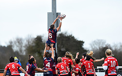 Poppy Leitch of Bristol Bears Women reaches for the ball - 2019 - RUGBY - Shaftesbury Park - Bristol, England - Bristol Bears Women v Gloucester-Hartpury Women - Tyrrells Premier 15s