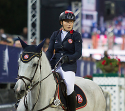 22.09.2012, Rathausplatz, Wien, AUT, Global Champions Tour, Vienna Masters, Grosser Preis von Wien, im Bild Stefanie Bistan (AUT) auf Juvina // during Vienna Masters of Global Champions Tour, Grand Prix of Vienna at the Rathausplatz, Vienna, Austria on 2012/09/22. EXPA Pictures © 2012, PhotoCredit: EXPA/ Sebastian Pucher
