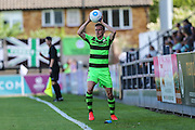 Forest Green Rovers Elliott Frear (11)  during the Vanarama National League match between Boreham Wood and Forest Green Rovers at Meadow Park, Boreham Wood, United Kingdom on 6 August 2016. Photo by Shane Healey.