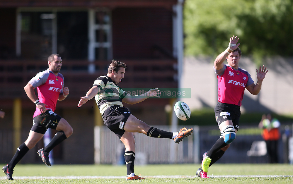 Theuns Kotze of Boland puts in a cross field kick during the Currie Cup premier division match between the Boland Cavaliers and The Pumas held at Boland Stadium, Wellington, South Africa on the 2nd September 2016<br /> <br /> Photo by:   Shaun Roy/ Real Time Images