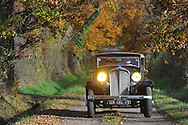 23/11/14 - VEAUCHE - LOIRE - FRANCE - Essais CITROEN Rosalie Type 15 de 1937 - Photo Jerome CHABANNE