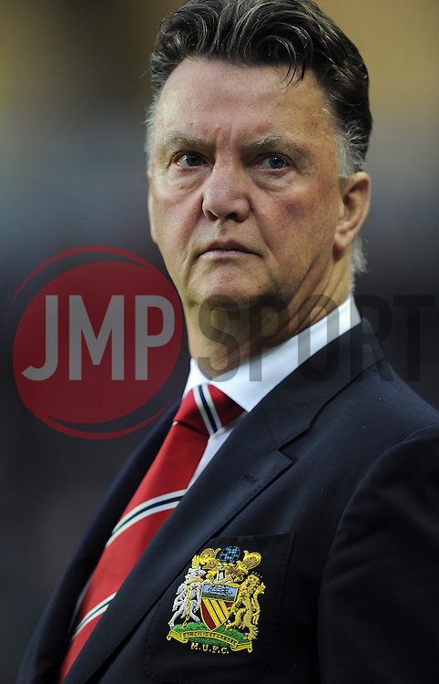 Manchester United Manager, Louis van Gaal - Photo mandatory by-line: Joe Meredith/JMP - Mobile: 07966 386802 26/08/2014 - SPORT - FOOTBALL - Milton Keynes - Stadium MK - Milton Keynes Dons v Manchester United - Capital One Cup
