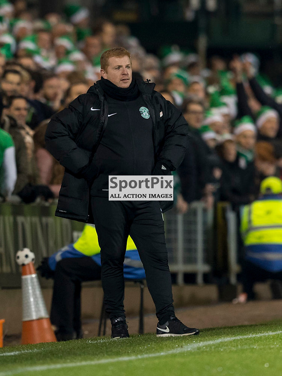 Dundee Utd v Hibernian   SPFL season 2016-2017  <br /> <br /> Neil Lennon (Hibernian Manager) during the Ladbrokes Championship match between Dundee Utd &amp; Hibernian at Tannadice Park Stadium on Friday 2 December 2016<br /> <br /> Picture: Alan Rennie