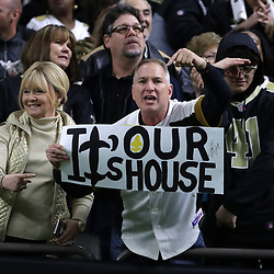 Jan 13, 2019; New Orleans, LA, USA; against the New Orleans Saints fans react before a NFC Divisional playoff football game against the Philadelphia Eagles at Mercedes-Benz Superdome. Mandatory Credit: Derick E. Hingle-USA TODAY Sports