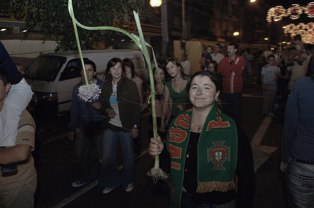 A women taking part to the São João Party