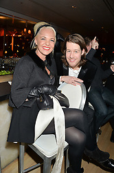 AMANDA ELIASCH and THOMAS GOULD at the Liberatum Cultural Honour For Sir Terence Conran Dinner held at the Sanderson Hotel, Berners Street, London on 19th November 2013.
