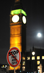 © London News Pictures. 2011/01/19 A rally and march in central London, UK, today (Wed) held by students on the day MPs are to vote on a Labour call for a rethink of the government's decision to scrap the Education Maintenance Allowance for low-income students. Picture credit should read Stephen Simpson/LNP