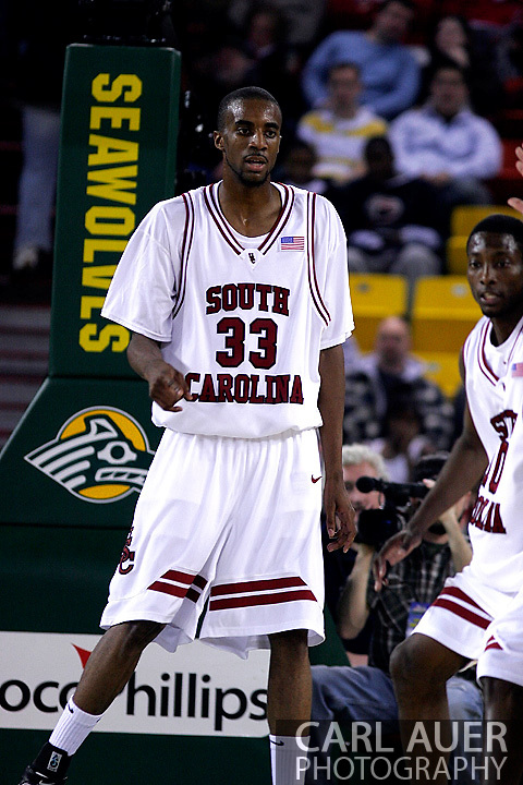 26 November 2005: USC Gamecock junior forward, Branon Wallace, in the South Carolina Gamecock overtime loss, 89-92 to the Golden Eagles of Marquette in the final game of the Great Alaska Shootout in Anchorage, Alaska