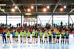 Players of RK Ljubljana on fourth place during handball match between RK Ljubljana and ZRK Z Dezele in Bronze Medal game of Slovenian Women Handball Cup 2017/18, on April 1, 2018 in Park Kodeljevo, Ljubljana, Slovenia. Photo by Matic Klansek Velej / Sportida