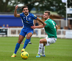 October 7, 2017 - Billericay, England, United Kingdom - L-R Sam Deering of Billericay Town and Rian Bray of Hendon FC .during Bostik League Premier Division match between Billericay Town against Hendon FC at New Lodge Ground, Billericay on 07 Oct 2017  (Credit Image: © Kieran Galvin/NurPhoto via ZUMA Press)