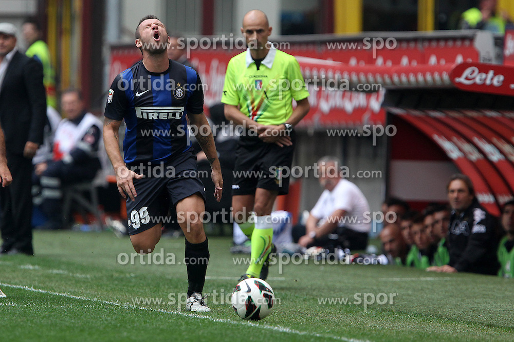 23.09.2012, Giuseppe-Meazza-Stadion, Mailand, ITA, Serie A, Inter Mailand vs AC Siena, 4. Runde, im Bild Antonio Cassano Inter // during the Italian Serie A 4th round match between Inter Milan and AC Siena at the Giuseppe Meazza Stadium, Milan, Italy on 2012/09/23. EXPA Pictures © 2012, PhotoCredit: EXPA/ Insidefoto/ Paolo Nucci..***** ATTENTION - for AUT, SLO, CRO, SRB, SUI and SWE only *****