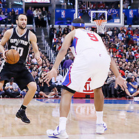 16 December 2013: San Antonio Spurs shooting guard Manu Ginobili (20) dribbles during the Los Angeles Clippers 115-92 victory over the San Antonio Spurs at the Staples Center, Los Angeles, California, USA.