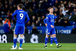 James Maddison of Leicester City cuts a dejected figure - Mandatory by-line: Robbie Stephenson/JMP - 12/04/2019 - FOOTBALL - King Power Stadium - Leicester, England - Leicester City v Newcastle United - Premier League
