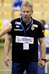 Gudmundur Gudmundsson, head coach of Rhein-Neckar Lowen during handball match between RK Celje Pivovarna Lasko (SLO) vs Rhein-Neckar Lowen (GER) in 3rd Round of Group A of EHF Champions League 2013/14 on October 12, 2013 in Arena Zlatorog, Celje, Slovenia. (Photo By Urban Urbanc / Sportida)
