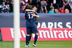 29.09.2012, Stade de Parc des Princes, Paris, FRA, Ligue 1, Paris St. Germain vs FC Sochaux, 7. Runde, im Bild KEVIN GAMEIRO (PARIS SAINT-GERMAIN), MAXWELL (PARIS SAINT-GERMAIN) // during the French Ligue 1 7th round match between Paris St. Germain and FC Sochaux at the Stade de Parc des Princes, Paris, France on 2012/09/29. EXPA Pictures © 2012, PhotoCredit: EXPA/ PicAgency Skycam/ Chris Elise..***** ATTENTION - OUT OF SWE *****