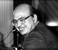 Bettino Craxi.  Presidente del Consiglio (Prime Minister).National secretary of the PSI (Italian Socialist Party)  1986.(1934-2000).