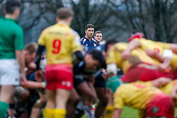 Bristol Rugby Inside Centre Ben Mosses looks on - Mandatory byline: Rogan Thomson/JMP - 17/01/2016 - RUGBY UNION - Clifton Rugby Club - Bristol, England - Scarlets Premiership Select XV v Bristol Rugby - B&I Cup.