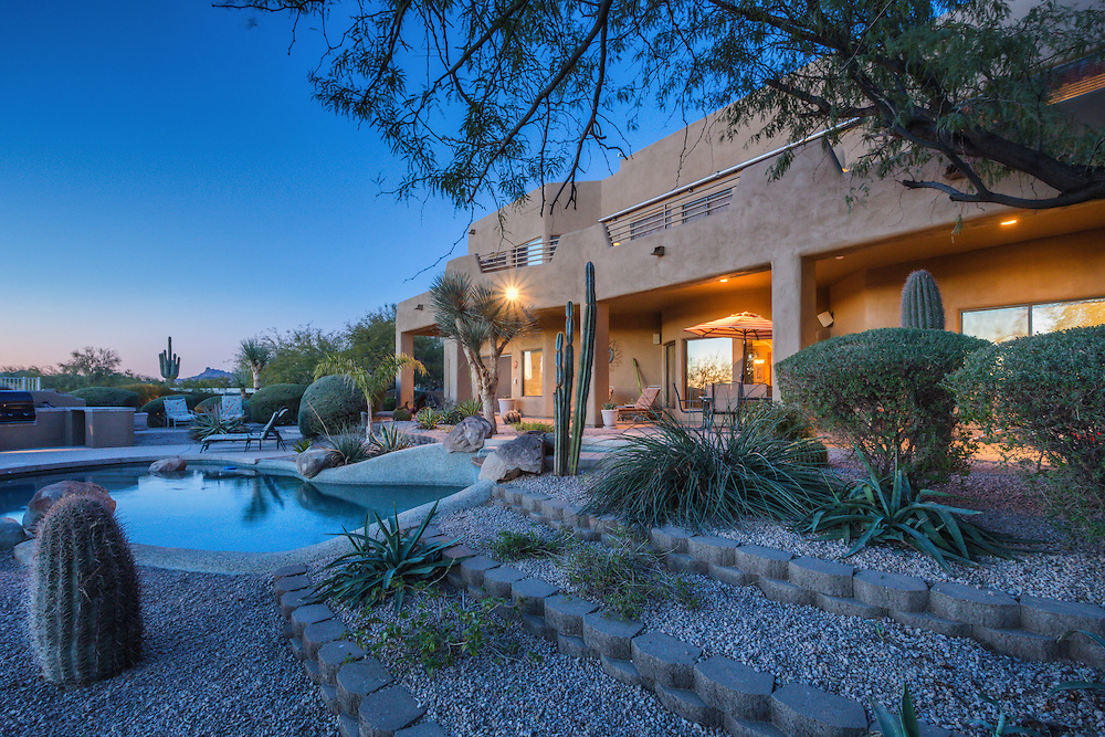 Real estate twilight photography in East Mesa, Arizona