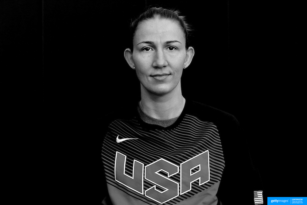 Player Portraits: Courtney Vandersloot <br /> <br /> The 2016 USA Basketball Women's National Team Training Camp at the  University of Connecticut&rsquo;s Werth Family UConn Basketball Champions Center, Storrs, Connecticut. 21st February 2016. Photo Tim Clayton