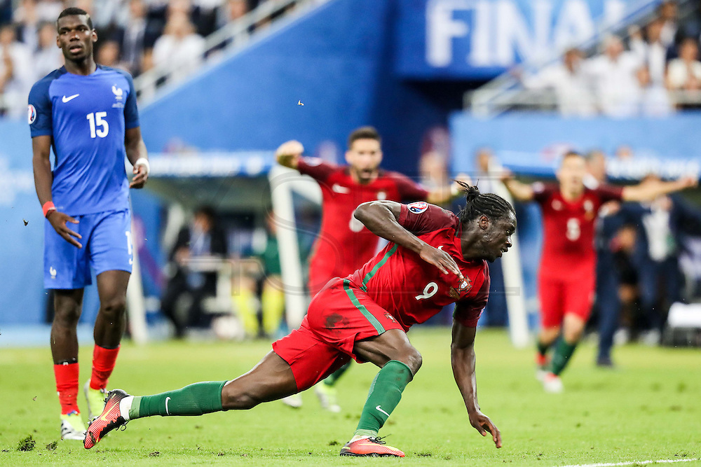 Ederzito celebrate his goal that made Portugal national squad become European Champions. Portugal beat home team France at Saint Denis stadium in Paris, after winning on extra-time by 1-0.