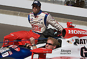 Indy Car driver Vitor Meira seen in the pits during qualifications for the Indy 500. Photo by Michael Hickey