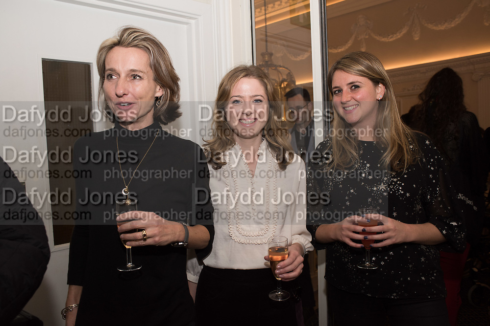DAISY WAUGH, CONSTANCE WATSON, HOLLY HARRIS, Literary Review Christmas party and Bad SEx Awards. In and Out club. St. James Sq. London. 3 December 2018