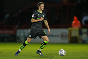 Forest Green Rovers James Morton(15), on loan from Bristol City during the EFL Sky Bet League 2 match between Stevenage and Forest Green Rovers at the Lamex Stadium, Stevenage, England on 26 December 2019.