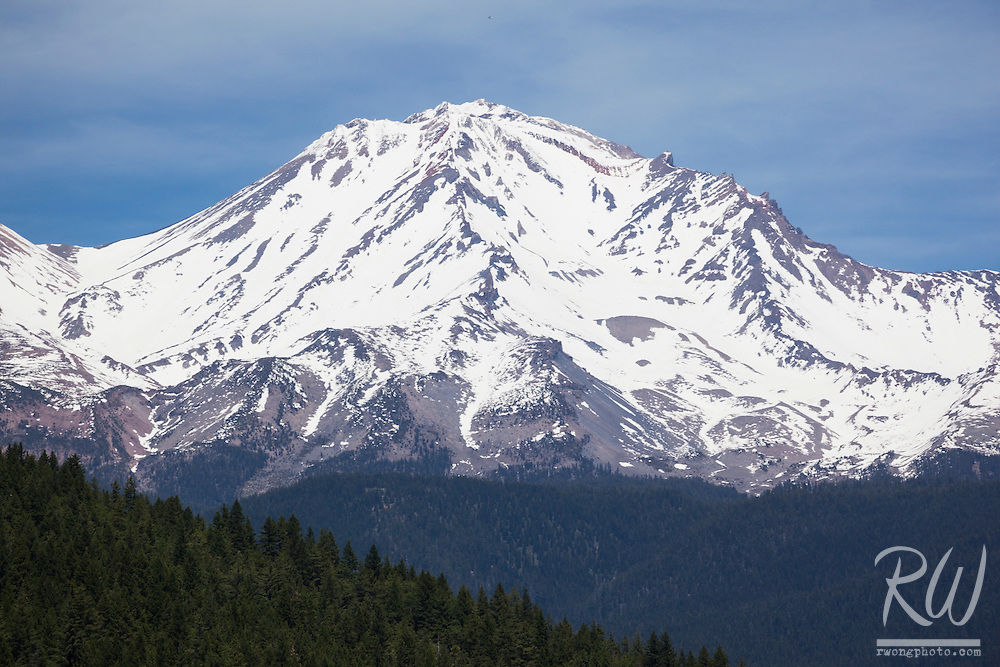 Mount Shasta Scenic View From Lake Siskiyou, California
