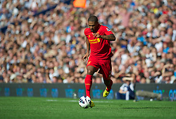 WEST BROMWICH, ENGLAND - Saturday, August 18, 2012: Liverpool's Glen Johnson in action against West Bromwich Albion during the opening Premiership match of the season at the Hawthorns. (Pic by David Rawcliffe/Propaganda)
