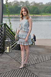 ROSIE FORTESCUE at a party to launch the Taylor Morris Explorer Collection held at the Serpentine Lido, Hyde Park, London on 11th May 2016.