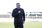 Wolverhampton Wanderers head coach Paul Lambert inspects the pitch at the Pirelli Stadium during the EFL Sky Bet Championship match between Burton Albion and Wolverhampton Wanderers at the Pirelli Stadium, Burton upon Trent, England on 4 February 2017. Photo by Richard Holmes.