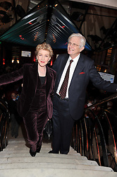 PATRICIA HODGE and PETER OWEN at the Costa Book Awards 2012 held at Quaglino's, 16 Bury Street, London SW1 on 29th January 2013.