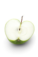 Apple on white background - close-up