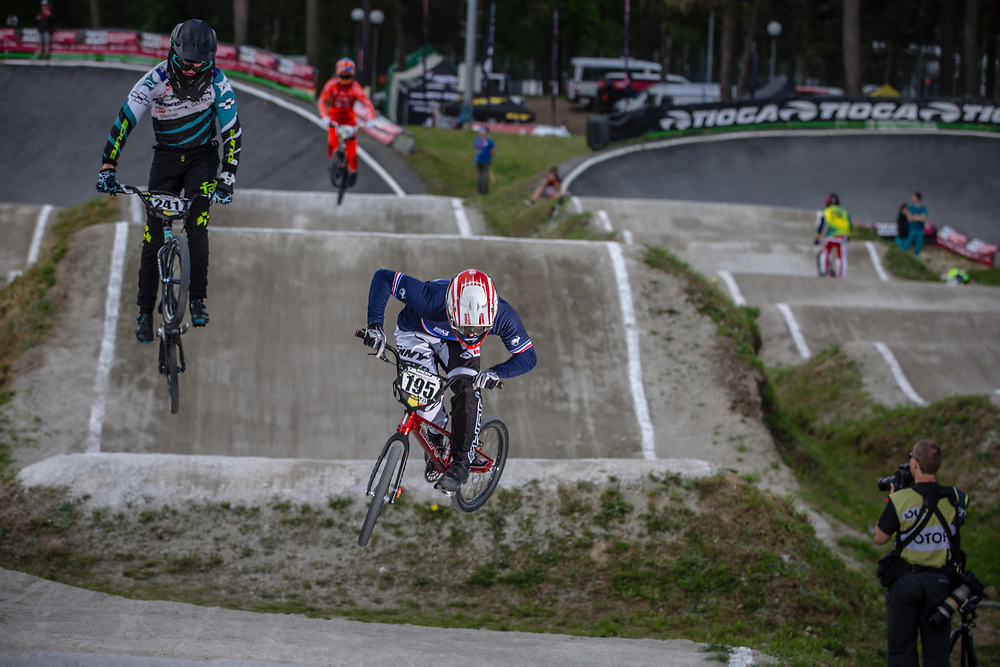 #195 (FABRE Timothe) FRA during round 4 of the 2017 UCI BMX  Supercross World Cup in Zolder, Belgium.