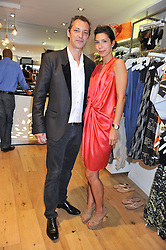 STEPHANIE ALAMEIDA and ANDRE MEYERS at a party to celebrate the launch of Salt Resortwear store at 69 Walton Street, London SW3 on 20th June 2012.