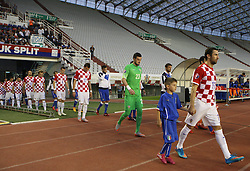 12.06.2015, Stadion Poljud, Split, CRO, UEFA Euro 2016 Qualifikation, Kroatien vs Italien, Gruppe H, im Bild Darijo Srna, Danijel Subasic // during the UEFA EURO 2016 qualifier group H match between Croatia and and Italy at the Stadion Poljud in Split, Croatia on 2015/06/12. EXPA Pictures © 2015, PhotoCredit: EXPA/ Pixsell/ Ivo Cagalj<br /> <br /> *****ATTENTION - for AUT, SLO, SUI, SWE, ITA, FRA only*****