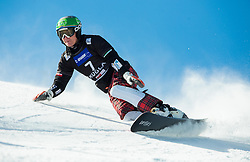 Rok Marguc of Slovenia competes in Qualification Run during Parallel Giant Slalom at FIS Snowboard World Cup Rogla 2015, on January 31, 2015 in Course Jasa, Rogla, Slovenia. Photo by Vid Ponikvar / Sportida
