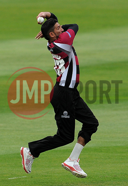 Somerset's Sohail Tanvir Photo mandatory by-line: Harry Trump/JMP - Mobile: 07966 386802 - 22/05/15 - SPORT - CRICKET - Natwest T20 Blast - Somerset v Sussex Sharks - The County Ground, Taunton, England.