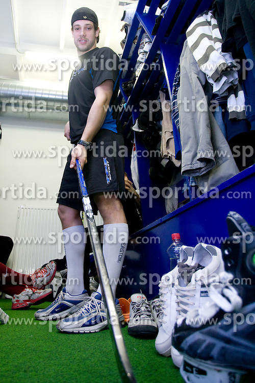 Jakob Milovanovic at first practice of Slovenian National Ice hockey team before World championship of Division I - group B in Ljubljana, on April 5, 2010, in Hala Tivoli, Ljubljana, Slovenia.  (Photo by Vid Ponikvar / Sportida)