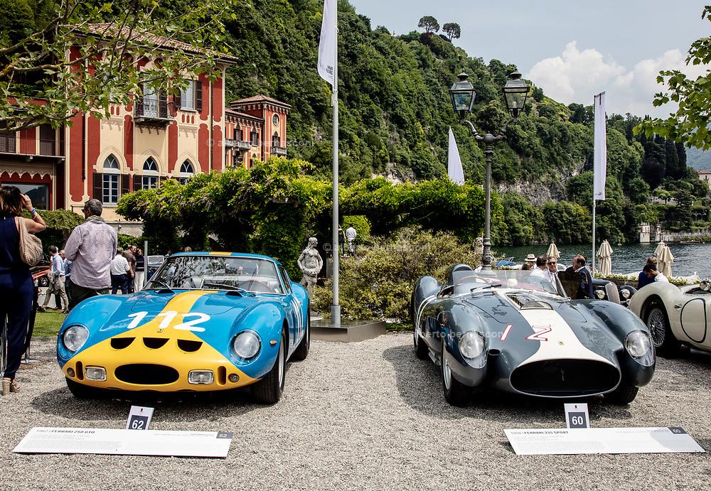 from left Ferrari 250GTO and Ferrari 335 sport , Modena