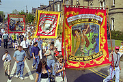 Gascoigne Wood, Whitemoor and North Selby banners, Yorkshire Miners Gala Barnsley 16/6//96