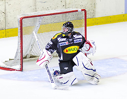 19.08.2012, Messestadion, Dornbirn, AUT, Eishockey Testspiel, Dornbirner Eishockey Club vs EV Ravensburg Towerstars, im Bild Patrick DesRochers, (Dornbirner Eishockey Club, #37)// during a international Icehockey Friendly Match between Dornbirner Icehockey club and EV Ravensburg Towerstars at the Exhibition Stadium, Dornbirn, Austria on 2012/08/19, EXPA Pictures © 2012, PhotoCredit: EXPA/ Peter Rinderer